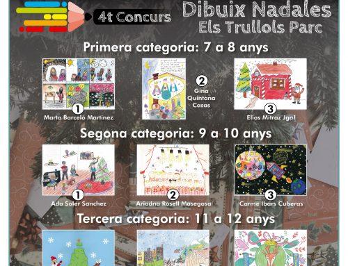 Guanyadors/es 4a edició concurs dibuix nadales